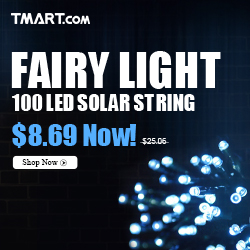 Flashligt Sale - $8.69 100 LED Solar String Light