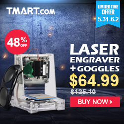 Laser Engraving Machine - Start $64.99
