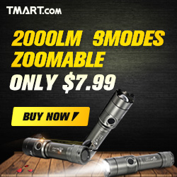 Flashlight Sale - $7.99 on Ultrafire 2000LM 3 Modes & More