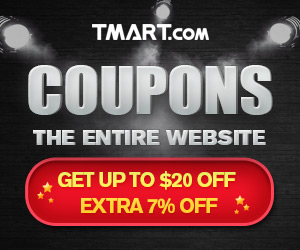TMart - 2016 Black Friday Coupon - 7% OFF & Up to $20 OFF