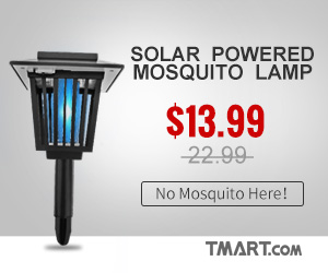 Solar Powered Mosquito Lamp on Sale