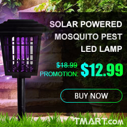 $12.99 for Solar Powered Mosquito Pest Killer Zapper LED Lamp