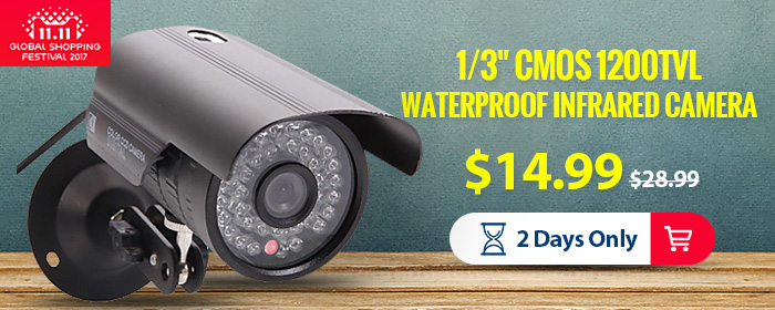 "11.11 Sale-$16.99 for 1/3"" CMOS 36-LED Waterproof Security Camera"