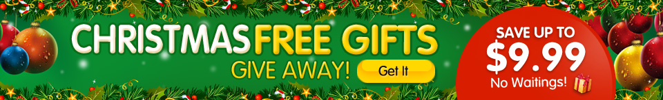 Christmas Free Gifts  @Tmart.com