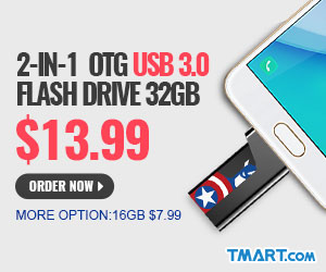 $7.99 for 2-in-1 OTG USB 3.0 Flash Drive 16GB