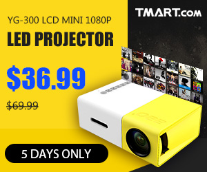 YG-300 LCD Mini 1080P Portable LED Projector only $36.99