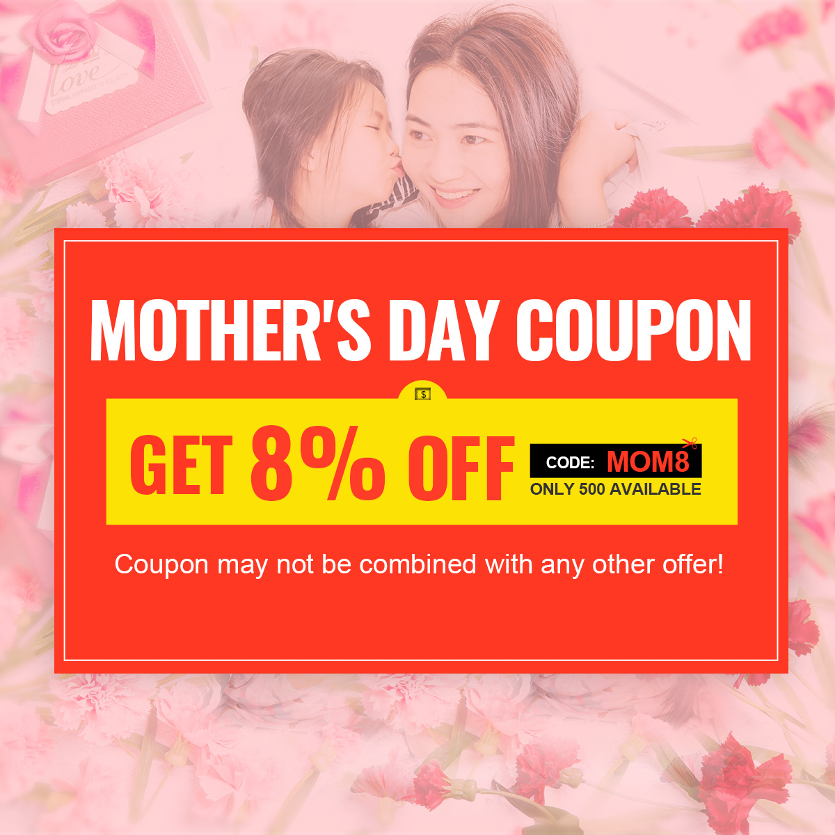 Mother's Day Coupon-8% OFF Sitewide