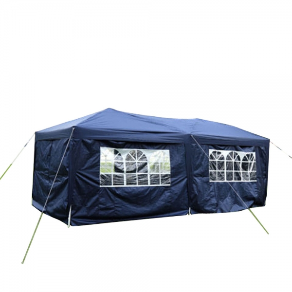 $24 OFF for 3 x 6m Four Windows Practical Waterproof Folding Tent Blue