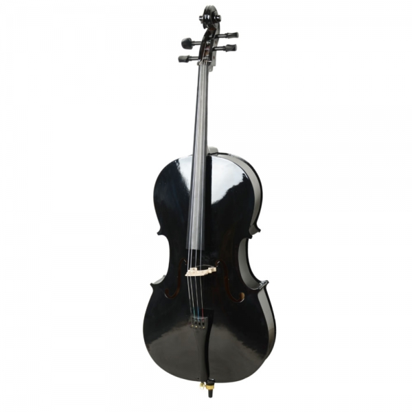 $30 OFF for 3/4 Basswood Black Color Cello Outfit & Bag & Bow & Rosin & Bridge for Beginner