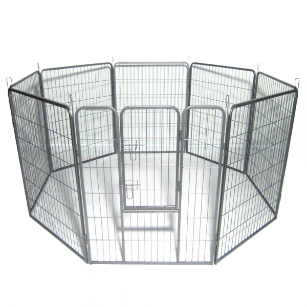 """$11 Coupon FENCE0416 for 40"""" Pet Playpen Metal Exercise Fence @Tmart"""
