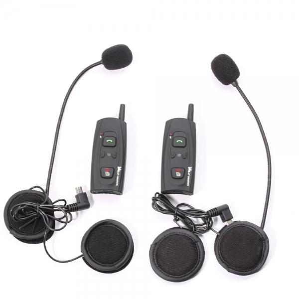 $79.99 for 2* V2-1200 Outdoor Full Duplex Motorcycle Helmet Dual-Ear Wireless Bluetooth Intercom