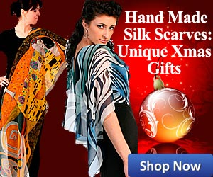Hand Made Silk Scarves - Christmas Gifts