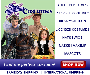StarCostumes.com - Largest Selections of Costumes on the Internet! Click here! 300x250 banner