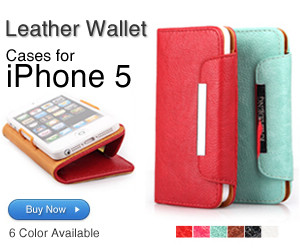 Calaton iPhone 5 Leather Wallet Cases