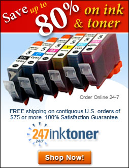 Save up to 80% on ink and toner