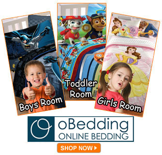 Character Bedding Sets for Boys and Girls at oBedding.com