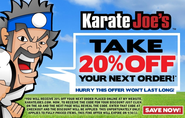 Karate Joe's Extra 20% Off Coupon