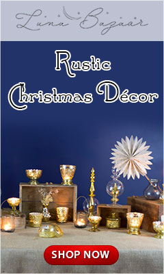 Decorate for a rustic Christmas with Luna Bazaar