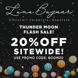 250x250 Thunder Moon Sale - Save 20% Sitewide Ends Monday 10:00AM Eastern BOOM20