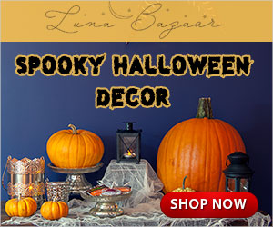 Find spooky chic Halloween décor at Luna Bazaar