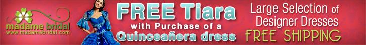 Quinceanera Dresses - Free Tiara
