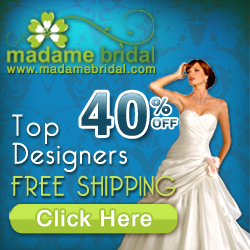 Madame Bridal 40% off all dresses
