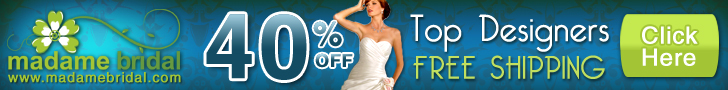 Madame Bridal 40% off  all dresses
