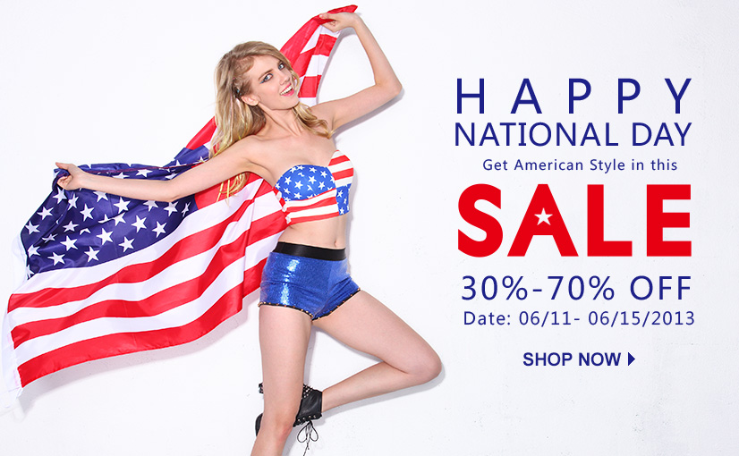 Romwe American Nationa Day Sale