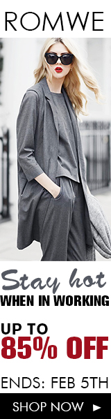 Hot work looks up to 85% off at ROMWE.com! Sale ends 2/5