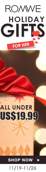 Shop Holiday Gifts for Her under $19.99 at ROMWE.com! Ends 11/26