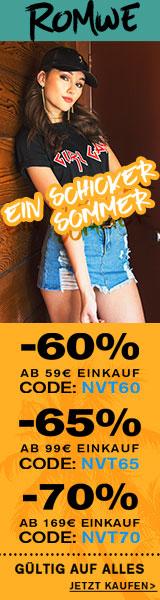Sparen Sie 70% Rabatt auf Bestellungen über €189 bei de.ROMWE.com