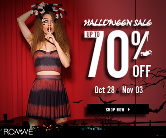 up to 70% OFF, Hallween is coming, Big celebration for 7 days. Starting from Oct.28th to Nov 3rd.