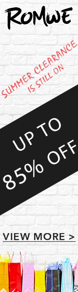 Summer Clearance is STILL on!  Save upto 85% at Romwe.com  Ends 9/18