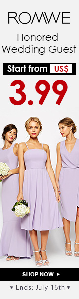 Looks for the honored wedding guests starting from $3.99 at ROMWE.com. Ends 7/16