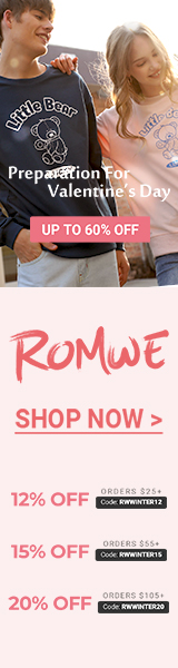 Preparation for Valentine's Day at us.romwe.com!  Save 20% on orders over $105 with code RWWINTER20.  Offer expires 1/17/2021.