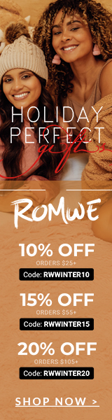 Holiday Perfect Gifts at us.romwe.com! Save 20% on orders over $105 with code RWWINTER20. Offer expires 12/13/2020.