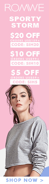 Save $20 off on orders over $159 at ROMWE.com - ends 4/3