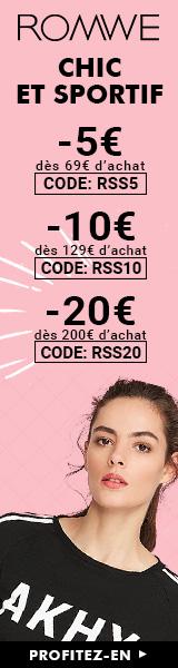 Economisez jusqu'à €20 à fr.ROMWE.com