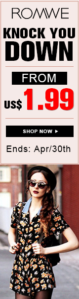 Looks that will knock you down starting at $1.99 at ROMWE.com! Ends 4/30