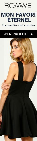 Petites robes noires en vente à fr.ROMWE.com! France uniquement vente se termine 17/03
