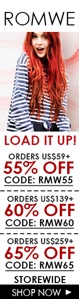 Load up on savings with up to 65% off at ROMWE.com! Sale ends 3/14
