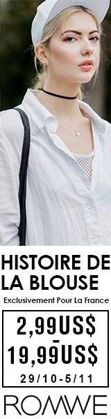 Blouses de US $ 2.99 à $ 19.99 US à fr.ROMWE.com! France uniquement vente se termine 5/11