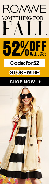 Save 52% off orders $55+ at ROMWE.com! Code: FOR52 ends 9/21