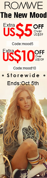 Save up to an extra $10 off orders $109+ at ROMWE.com! Click for details – sale ends 10/5