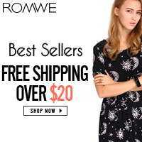 """Romwe Summer Clearance Sale""1000+ sales will be on discounts,EXTRA 30% OFF! It starts on July 21st, Only one week! Free shipping worldwide! SHOP NOW!"