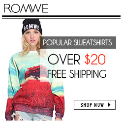 ROMWE sweater, Free shipping Over $20.