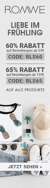 Sparen Sie 65% Rabatt auf Bestellungen über €159 bei de.ROMWE.com