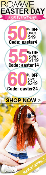 Save up to 60% off this Easter at ROMWE.com!  Click for details