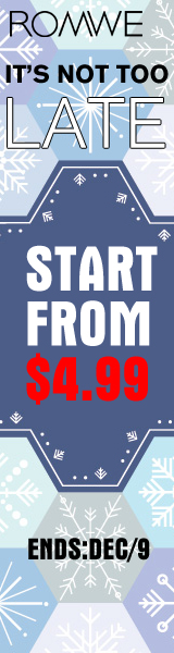 It's not too late to save with ROMWE!  Find great holiday fashions starting at $4.99 through 12/9