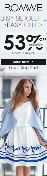 Get easy chic with an easy silhouette & 53% off orders $59+ at ROMWE.com! Code EASY53 ends 9/2